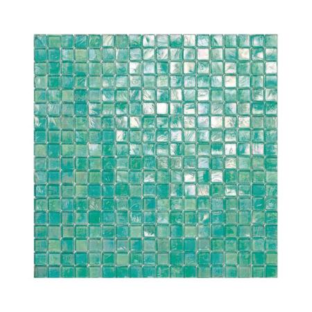 Turkusowa mozaika ze szkła 116 MANGOSTAN