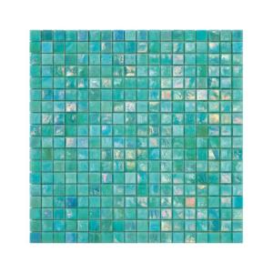 Turkusowa mozaika ze szkła FERN 2