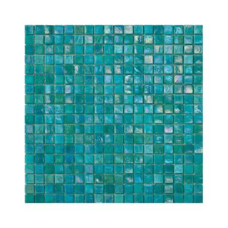 Turkusowa mozaika ze szkła FERN 3