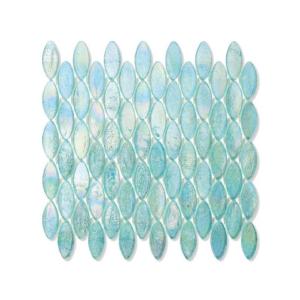 Turkusowa mozaika ze szkła z refleksem OMES 242 ORGANZA