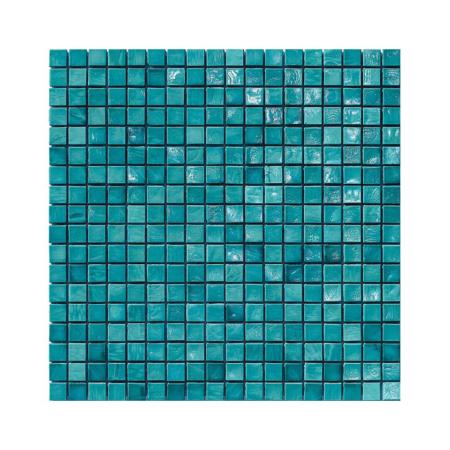 Turkusowa-zielona mozaika ze szkła AQUAMARINE J
