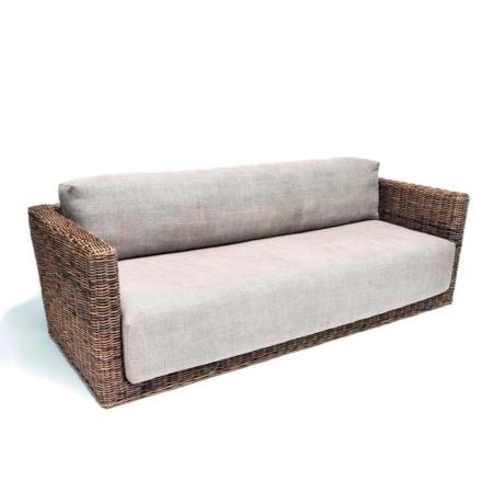 Wiklinowa sofa 3-osobowa RENE