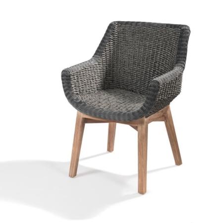 Wiklinowe krzesło z podłokietnikami JACKY