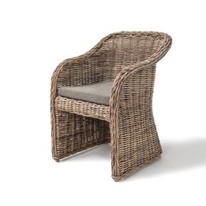Wiklinowe krzesło z podłokietnikami OCTAVIA