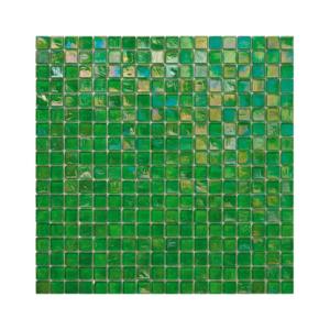Zielona mozaika ze szkła z tęczowym refleksem 124 PEAR
