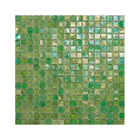 Zielona mozaika ze szkła z tęczowym refleksem 125 KIWI