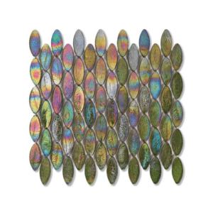 Zielona mozaika ze szkła z tęczowym refleksem DOMES 244 TWEED