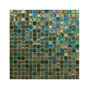Zielono-oliwkowa mozaika ze szkła z tęczowym refleksem 143 LEMON