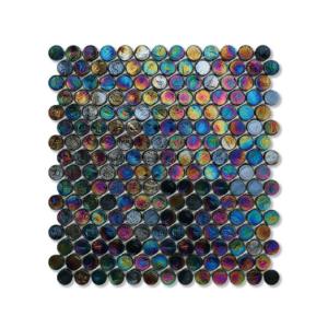 Czarna mozaika ze szkła z tęczowym refleksem BARRELS 246 VELVET