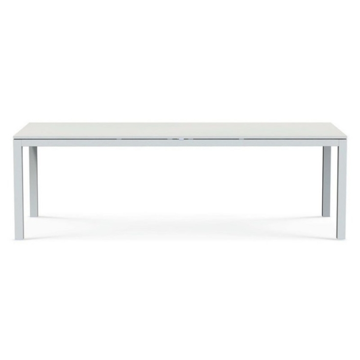 Biały, prostokątny stół zewnętrzny Flat