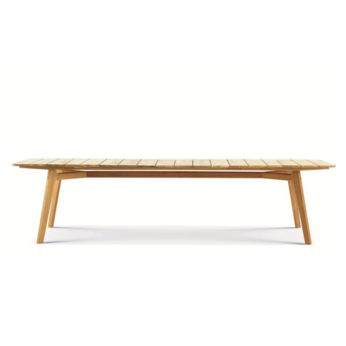 Drewniany prostokątny stół zewnętrzny Knit