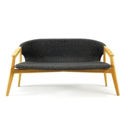 Nowoczesna ławka tapicerowana zewnętrzna Knit