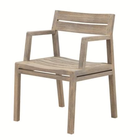 Nowoczesne krzesło ogrodowe z drewna Costes