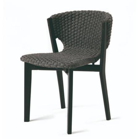 Nowoczesne krzesło ogrodowe z drewna Knit