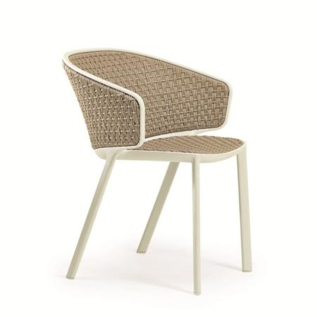 Nowoczesne krzesło ogrodowe z oparciem Pluvia