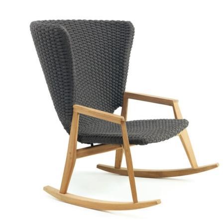 Nowoczesny fotel bujany zewnętrzny Knit