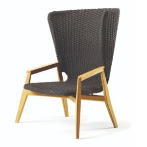 Nowoczesny fotel zewnętrzny z wysokim oparciem Knit