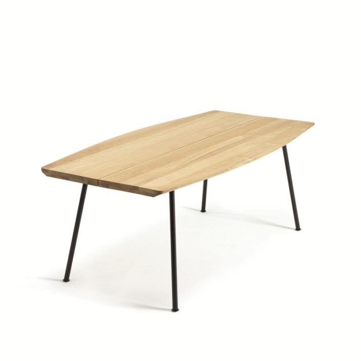 Prostokątny drewniany stół zewnętrzny Agave