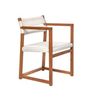 Środziemnomorskie krzesło ogrodowe z podłokietnikami Emily