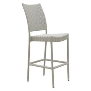 Białe krzesło barowe ogrodowe Tonga