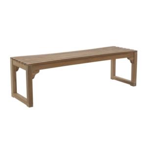 Drewniana ławka ogrodowa bez oparcia Classica