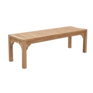 Drewniana ławka ogrodowa bez oparcia Tenis Savana