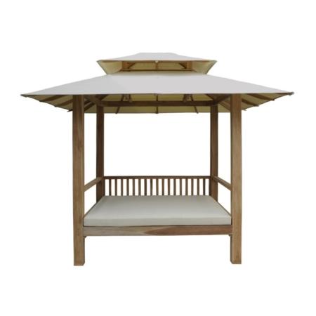 Drewniane łóżko zewnętrzne z zadaszeniem Cabana Classica