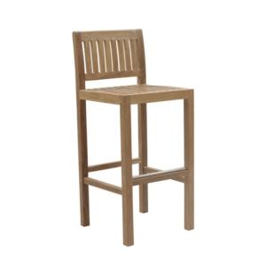 Drewniane krzesło barowe zewnętrzne Savana