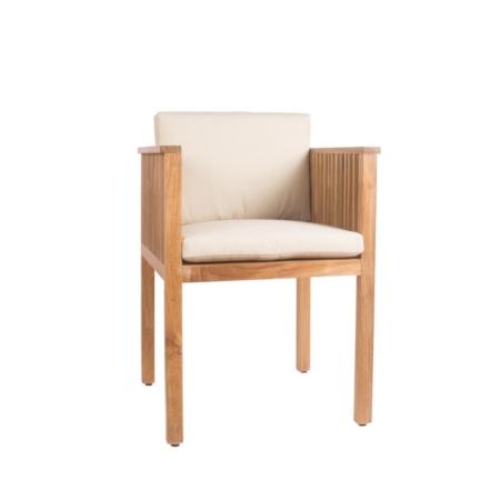 Drewniane krzesło ogrodowe z podłokietnikami Code