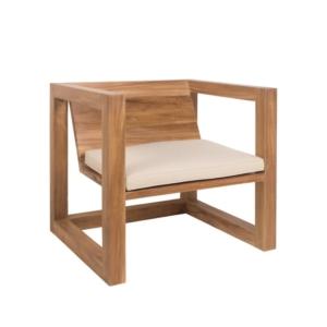Drewniany fotel ogrodowy Boxer