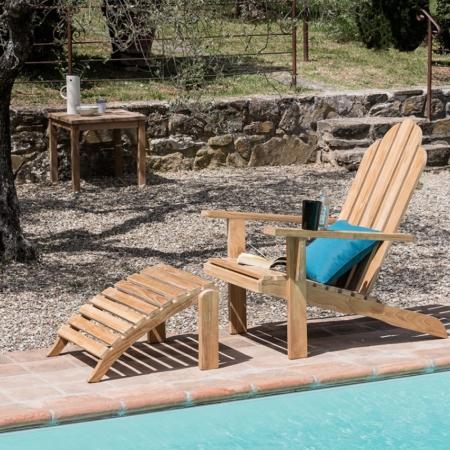 Drewniany fotel ogrodowy Riviera