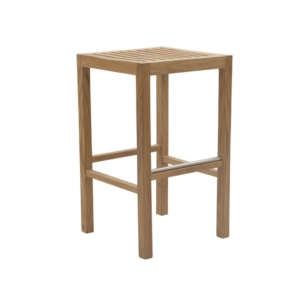 Drewniany stołek barowy ogrodowy Savana
