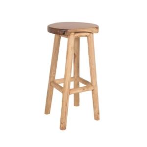 Drewniany stołek barowy zewnętrzny Radice