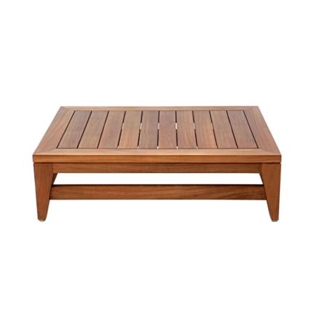 Drewniany stolik kawowy podnóżek ogrodowy