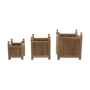 Klasyczne donice zewnętrzne z drewna Tris