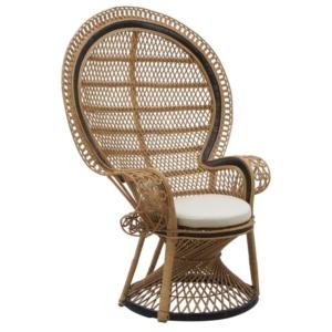 Klasyczny fotel ogrodowy z wysokim oparciem Alice