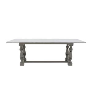 Klasyczny stół prostokątny z marmurowym blatem Mozaic