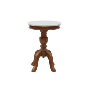 Klasyczny stolik pomocniczy zewnętrzny marmurowy blat Mozaic
