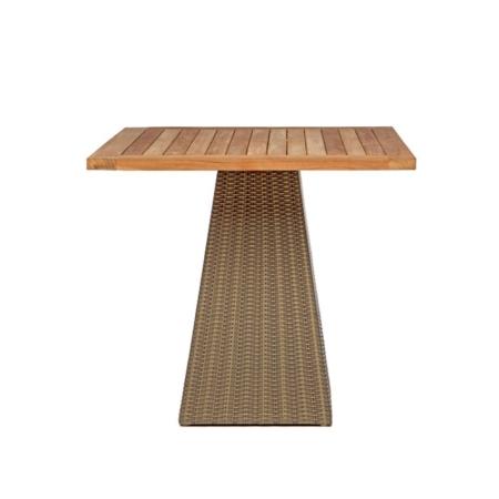 Kwadratowy stół zewnętrzny na jednej nodze Gipsy
