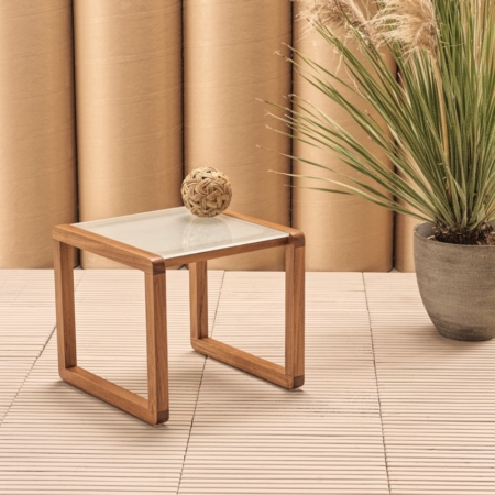 Kwadratowy stolik pomocniczy zewnętrzny Dual 1