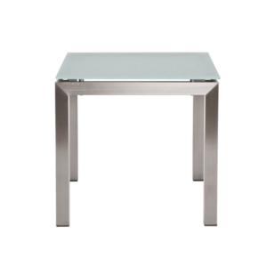 Kwadratowy stolik pomocniczy zewnętrzny Glass Berbeda