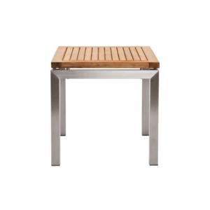 Kwadratowy stolik pomocniczy zewnętrzny Teak Berbeda