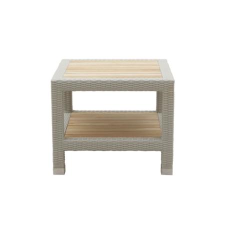 Kwadratowy stolik pomocniczy zewnętrzny Tonga