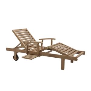 Leżak ogrodowy z podłokietnikami i kółkami Caribe Classica