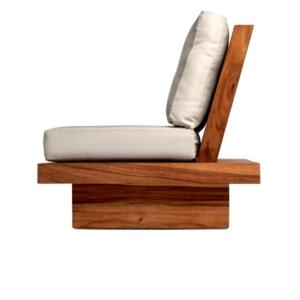 Niskie krzesło jadalne zewnętrzne Suar