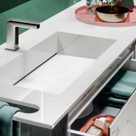 Nowoczesna umywalka z szafką Zero ZP144452PO Qin