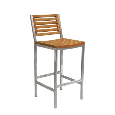 Nowoczesne krzesło barowe zewnętrzne Teak Berbeda