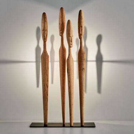 Nowoczesne rzeźby z drewna Imos Arturo Álvarez
