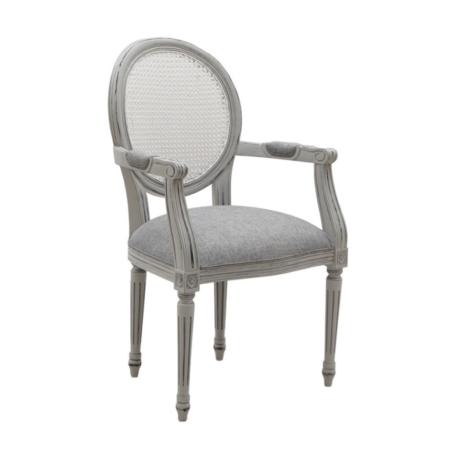 Ogrodowe klasyczne krzesło z wysokim oparciem i podłokietnikami  Mozaic