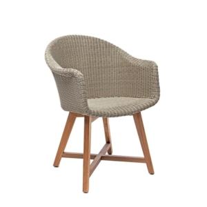Ogrodowe krzesła jadalne z podłokietnikami Gipsy